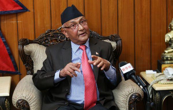 资料图:尼泊尔总理奥利 新华社发