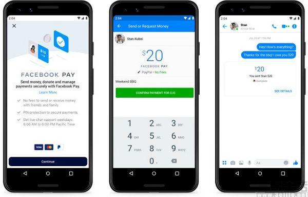 Facebook推新支付服务,支持信用卡PayPal付款