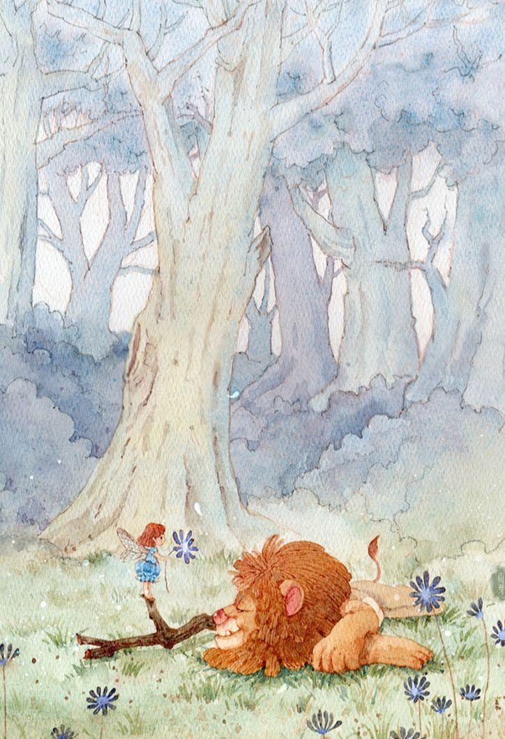童话风清新水彩插画10节课报名啦,最有爱有故事的水彩插画课图片