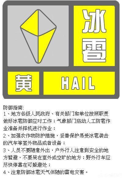 北京发布冰雹黄色预警今晚将出现冰雹天气