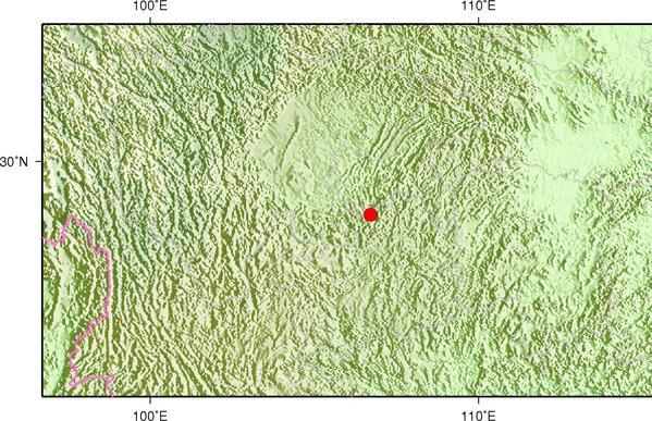 4月11日6时26分重庆綦江区(有感)发生2.1级地震