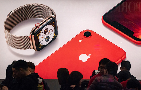 自从1月29日2019年第一财季财报发布以来,苹果公司的股价上涨了约13%。视觉中国 资料