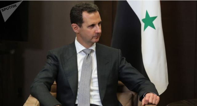 叙利亚总统阿萨德在接受记者采访