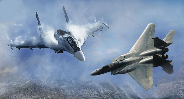 美俄战机谁胜一筹?单打独斗苏35没有对手,但F15的优势也很明显