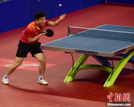 武汉军运会:八一乒乓球队击败希腊队取得开门红