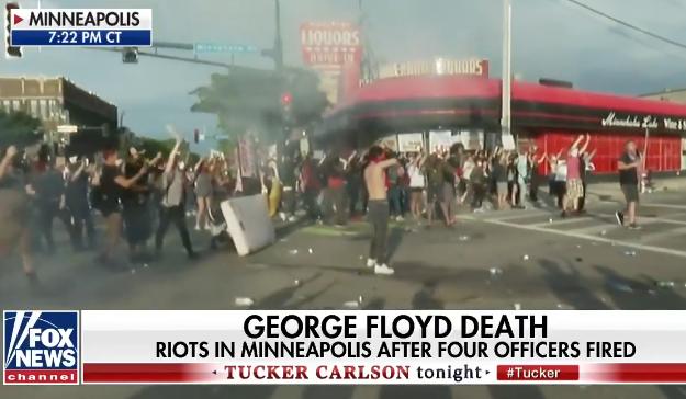 明尼阿波利斯市骚乱现场 来源:视频截图