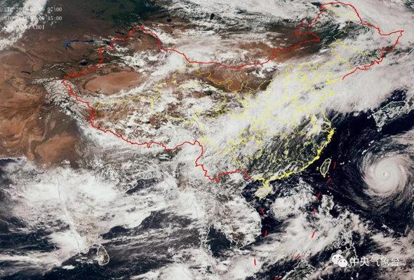 """超强台风""""玛莉亚""""已经进入我国48小时警戒线"""