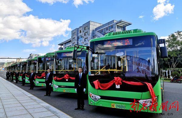南充这里首批9辆新能源公交车投运