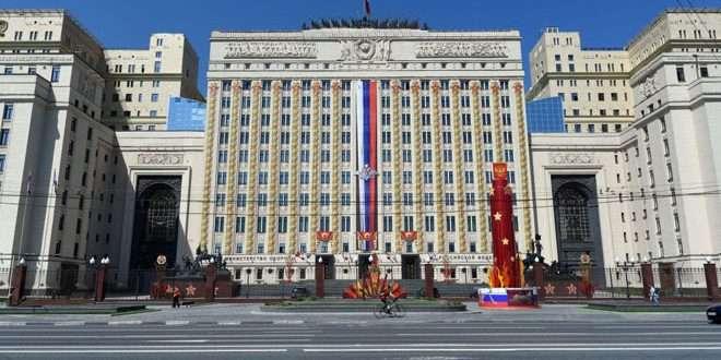 俄罗斯国防部大楼(图片来自叙利亚国家通讯社网站)