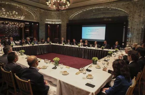 资料图片:一家中国公司纽约代表处举行开业仪式暨投资研讨会。