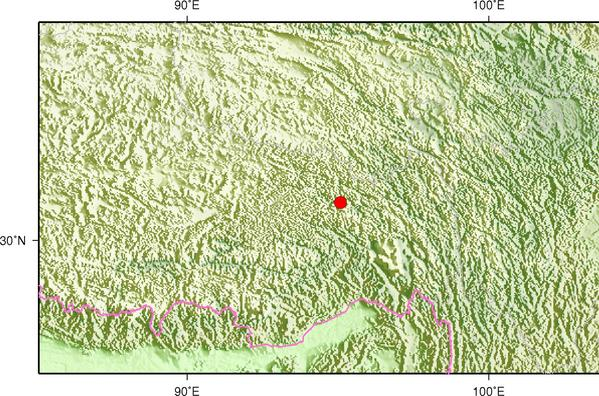 8月8日5时29分西藏昌都市边坝县发生3.2级地震