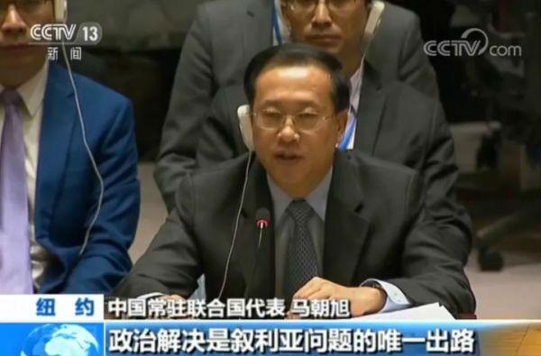 马朝旭在联合国安理会上