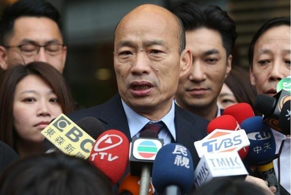 """高雄市长韩国瑜(图片来源:台湾""""联合新闻网"""")"""