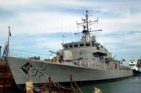 图为菲律宾海军军舰
