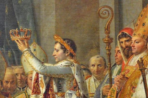 路易·大卫 《拿破仑为皇后加冕》(局部)