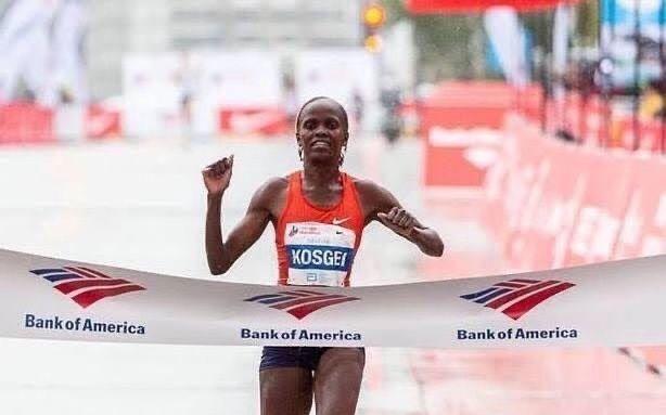 科斯盖打破尘封16年女子马拉松世界纪录