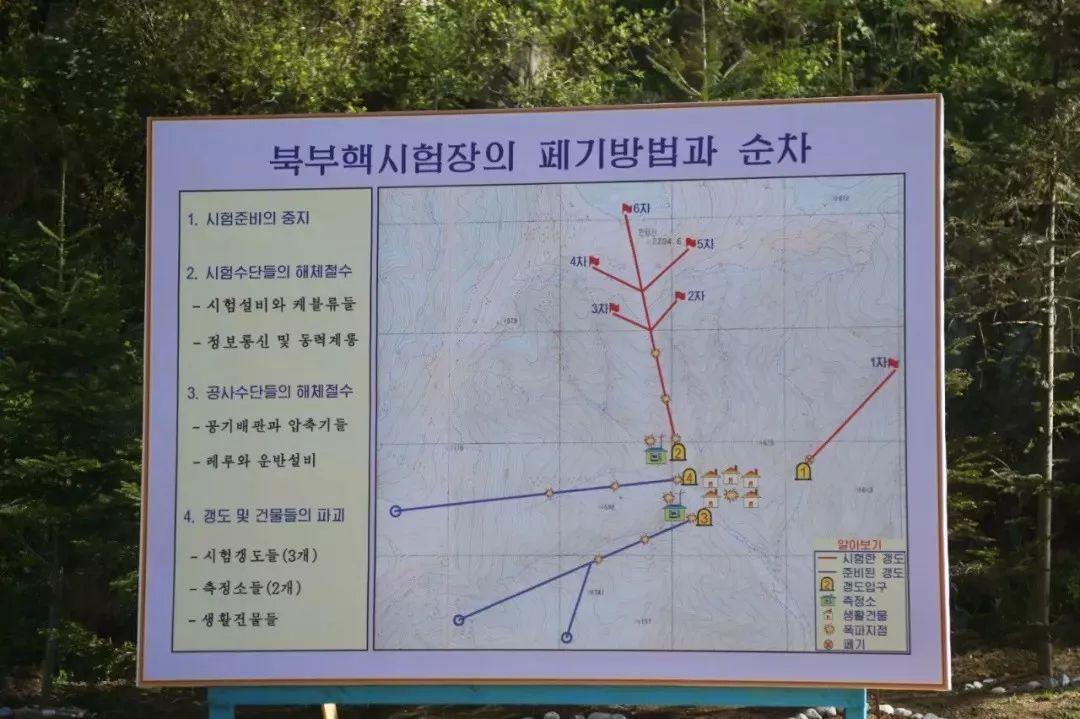 图中红旗处是朝鲜6次核试验的方位�$�。