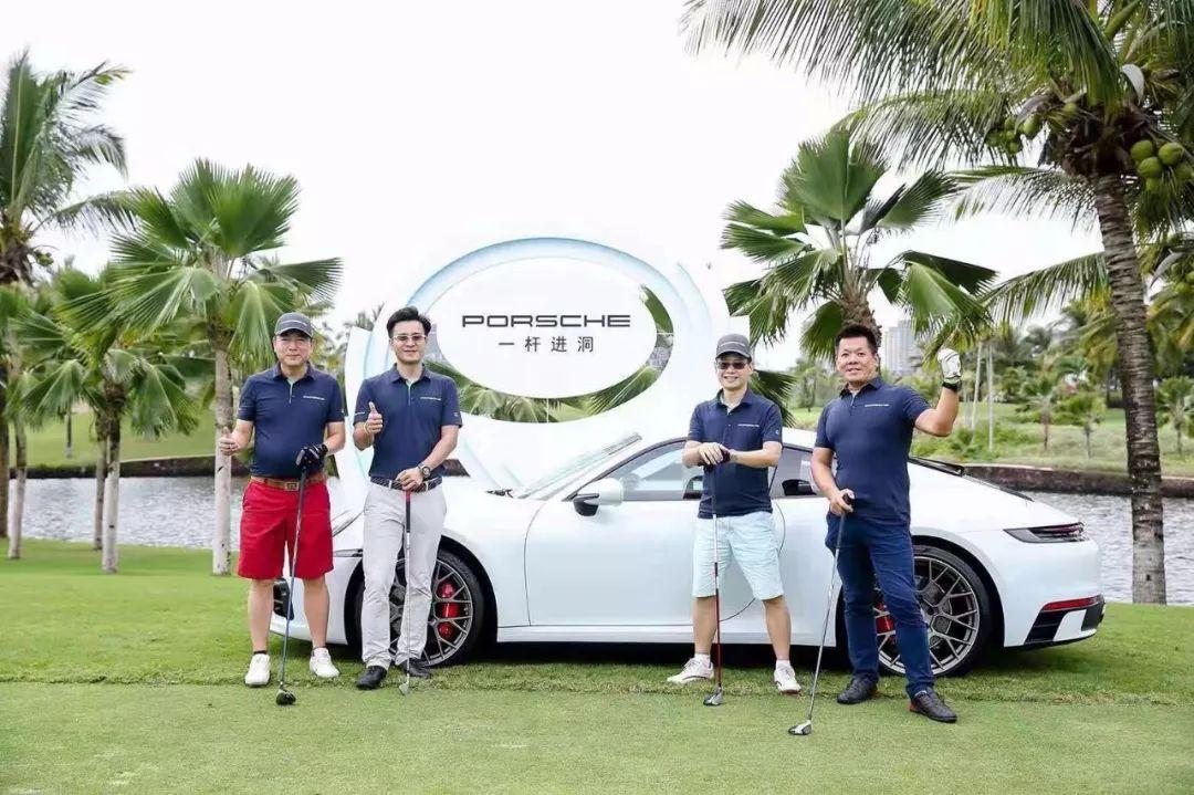 我的理想就是开保时捷,打高尔夫!