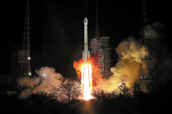 3月30日,我国再次成功发射两颗北斗三号卫星。新华社 图