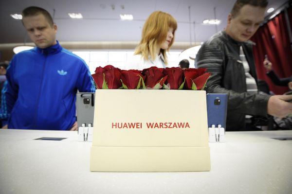 资料图:华为公司在波兰开设首家专卖店。