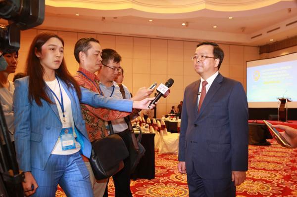 同时得到了东盟秘书处的积极支持,林玉辉秘书长今天专门出席论坛开幕图片