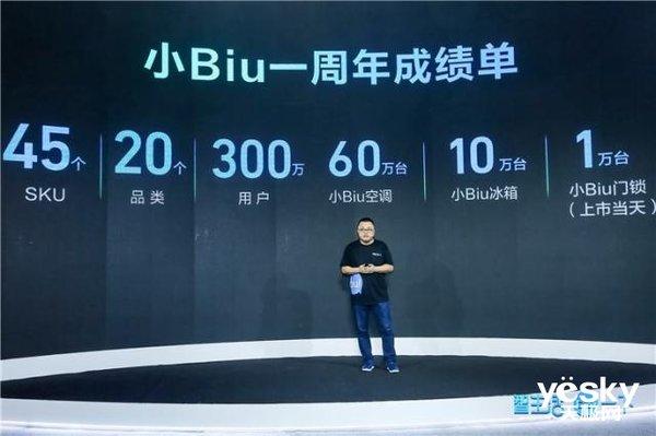 苏宁小Biu晒一周年成绩单:全系产品已拥有45个SKU、20大品类