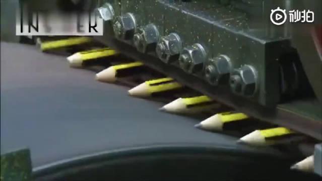 一支铅笔的诞生过程,这生产设备非常精密~