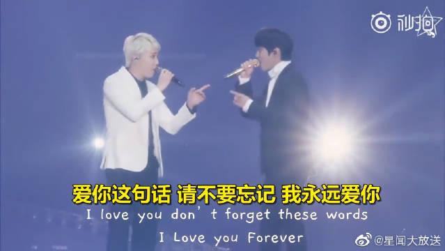 合唱十年前两人主演的韩剧《原来是美男》主题曲《Promise》