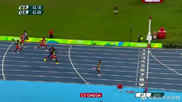 400米世界纪录范尼凯克,最后100米看呆