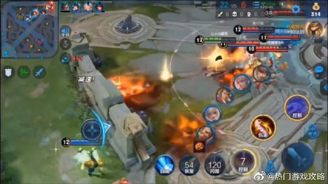 王者荣耀:滑板火舞花式越塔杀,就跟防御塔不存在似的!