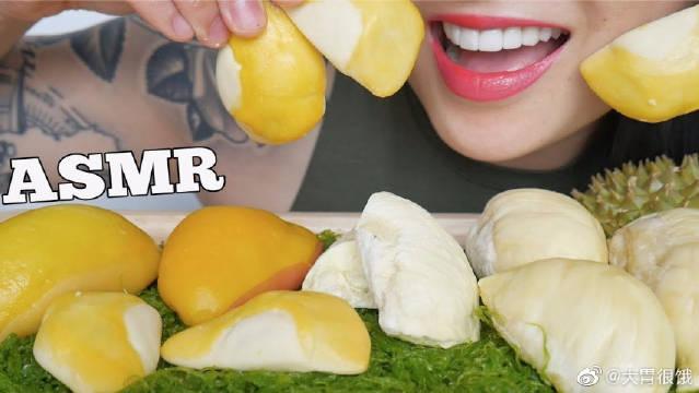 SAS微笑姐吃播热量最高的水果榴莲,以及冷冻干榴莲!