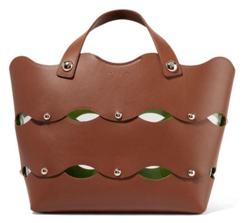 SARA BATTAGLIA Clarissa 带铆钉扇贝边皮革手提包 $1,107