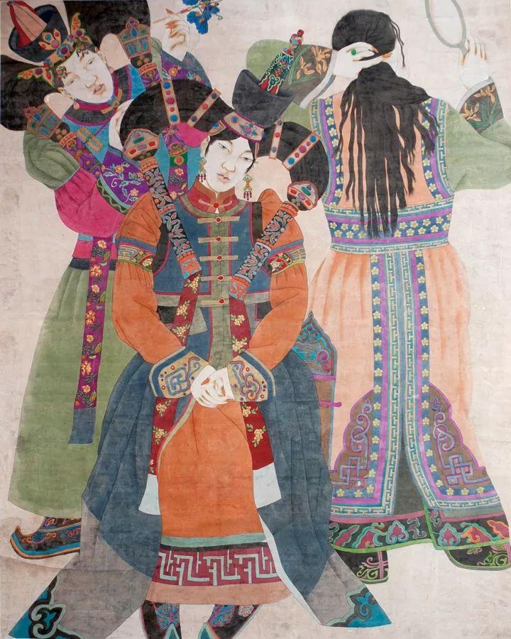 蒙古族女画家苏茹娅:惊艳了时光,温柔了岁月图片
