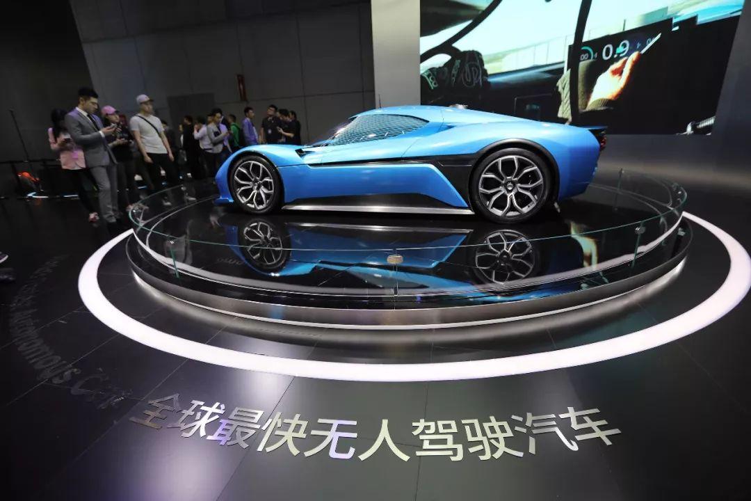 全球最快的无人驾驶汽车——蔚来汽车。@视觉中国