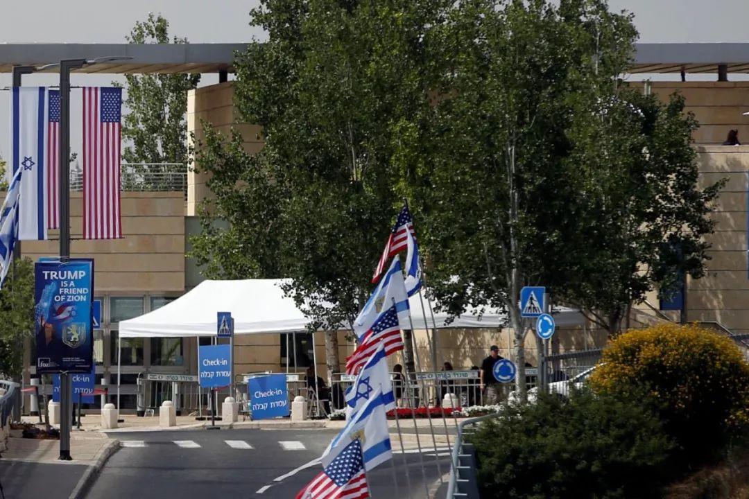 ▲美国驻耶路撒冷大使馆入口处