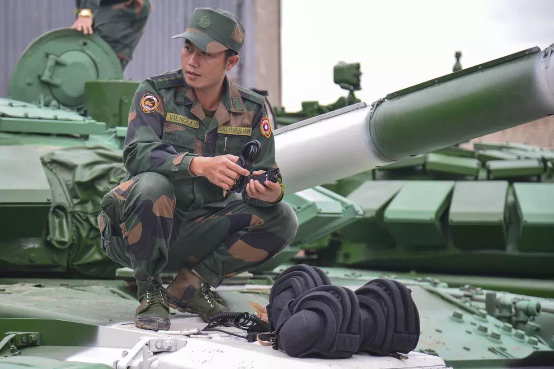 ▲图为老挝参赛人员