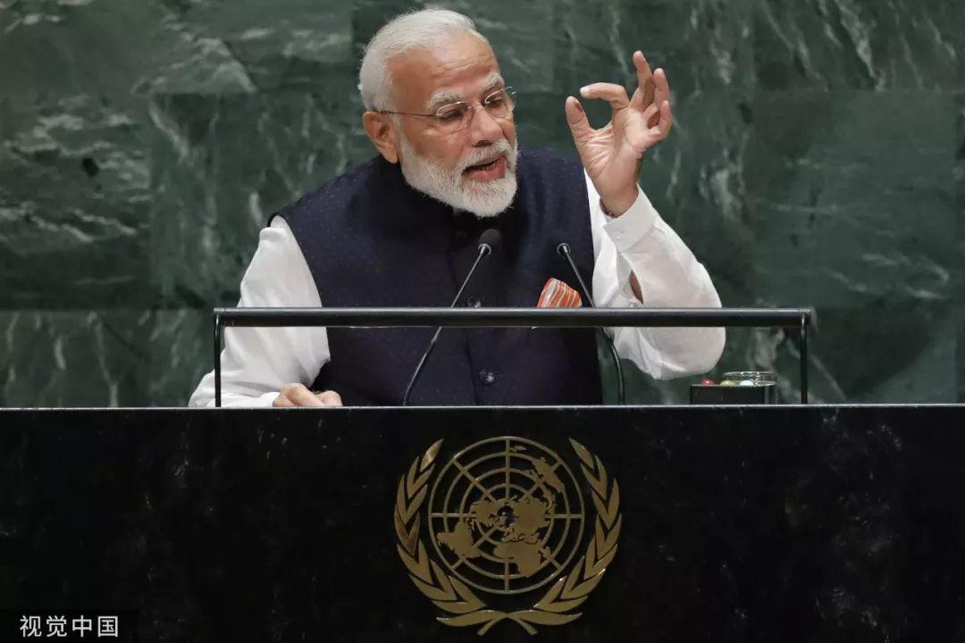 ▲9月27日,好国纽约,印度总理莫迪正在第74届联年夜集会上讲话。