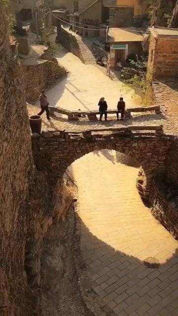醉美的夕阳,行走的画卷,冬天的时候可以来邯郸涉县大洼村看看。