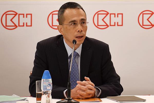 2018年3月16日,香港,长江和记实业有限公司主席李嘉诚正式宣布退休。图为李嘉诚长子李泽钜。