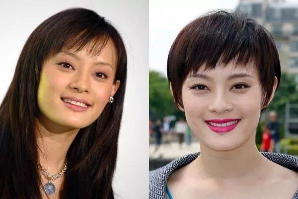 欧阳娜娜剪短发居然也美炸天,为什么有的人长发短发都图片