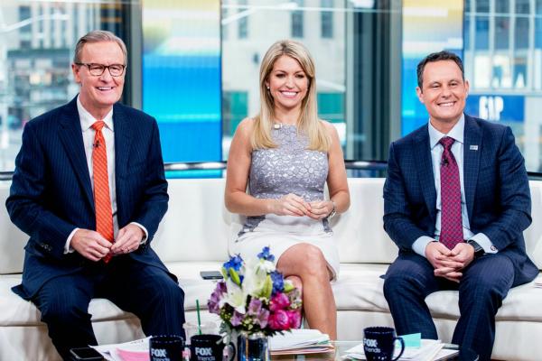 特朗普接受美国福克斯新闻(Fox&Friends)的电话采访。图为节目主持人。(图片来源:美媒)