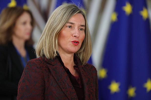 欧盟外交和安全政策高级代表莫盖里尼。视觉中国 资料