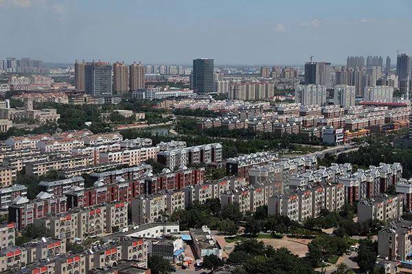在高空俯拍的东营城市风光。 视觉中国 资料图