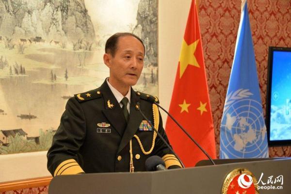 中国常驻联合国代表团军事参谋团团长华波少将