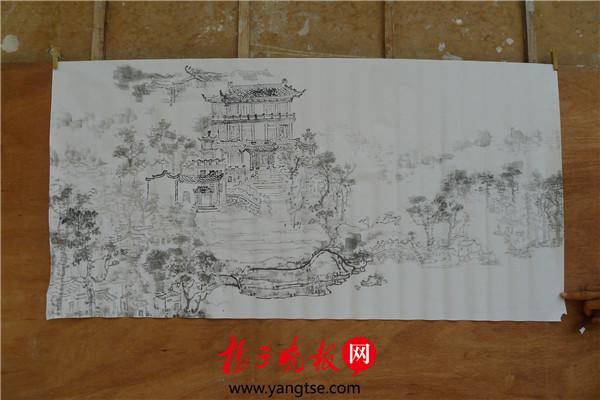 玉龙武进画家绘制宋剑湖初中系列常州风貌喜捷镇图片