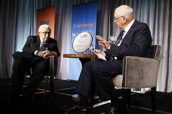 9月13日,基辛格在华盛顿智库威尔逊中心出席活动,分享对当前中美关系的看法。 威尔逊中心 资料图