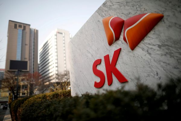 资料图片:韩国首尔,SK Innovation总部。(路透社)