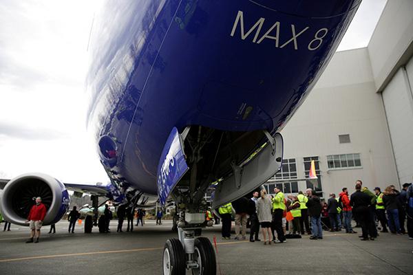 波音737 MAX。视觉中国 资料
