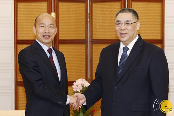 韩国瑜与崔世安会面。澳门特别行政区政府入口网站 图
