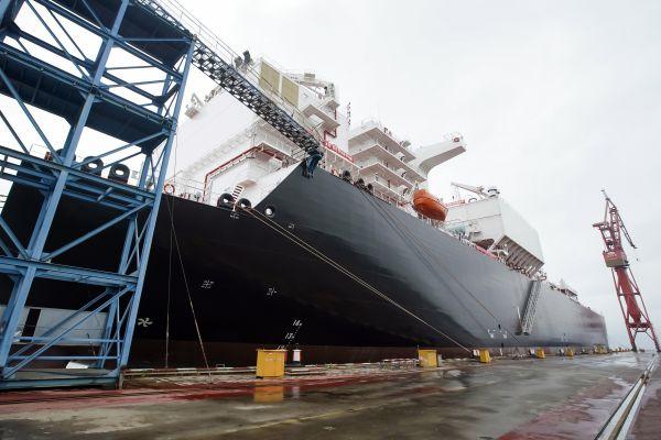 资料图:沪东中华造船(集团)有限公司造船项目。(新华社)